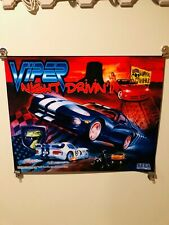 Viper Night Drivin Pinball Machine Sega Translite 1998