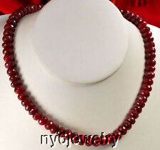 Luxurious! Magnificent! Natural Red Ruby Beads Different length necklace*