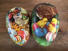 Vintage German Paper Mache Easter Egg Container Lot
