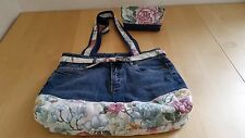 Handbag with matching pouch recycled hand made
