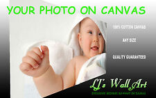 """Personal Photo Picture on 100% 330gsm Cotton Canvas Print Deep Frame 8"""" x 8"""""""