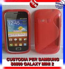 Pellicola+Custodia cover case WAVE ROSSA per SAMSUNG GALAXY MINI 2 S6500