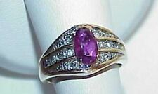 14K 1.00CT Ruby .50CT Diamond Band Ring Yellow Gold Size 4 High End Hig Quality