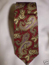 Oakton Tricel Tie Red Purple Gray Paisleys 56.5""