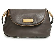 NWT Marc by Marc Jacobs New Q NATASHA Leather Crossbody Bag Dark Gray $368+ AUTH