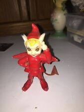 1955 Kreiss Red Devil with Cape & Tail Ceramic Figurine Halloween  Vintage