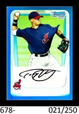 1-2011 BOWMAN CHROME BLUE REFRACTOR TONY WOLTERS ROCKIES 021/250
