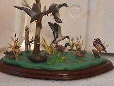 """Ducks Sculpture Figurines, Danbury Mint """"Atlantic Flyway"""" by George Kruth Artist"""