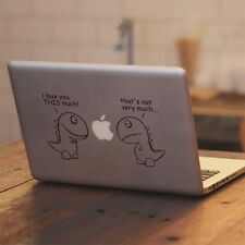 """T-Rex I Love You This Much Decal Sticker for Apple Macbook Pro & Air 13"""" 15"""" 17"""""""