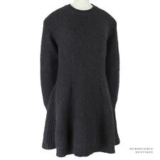 Stella McCartney Dark Charcoal Grey Alpaca Wool Knitted Sweater Dress IT42 UK10
