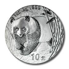 China Panda Silver 2001 UNC 1 oz 10 Yuan