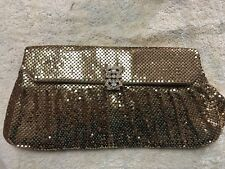 "Vntg. Whiting & Davis Co. Bag Gold Mesh Clutch approx. 10.5"" L x 5"" H w/coin"