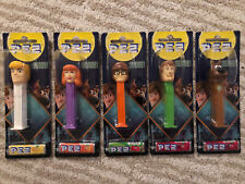 More details for pez scoob! scooby doo pez dispensers full set x5 bnip mystery machine collect