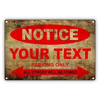 V12 Vantage Parking Only All Towed Man Cave Novelty Garage Aluminum Metal Sign