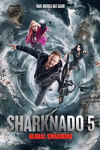 2017 New Sharknado 5 Global Swarming Movie POSTER Wall Decoration X-105