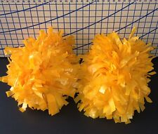 Yellow / Gold Pom Poms Cheerleader Pep Rally Spirit Cheer Set Of 2