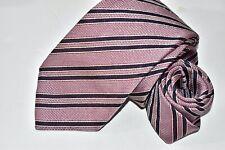 Men's Deluxe Ermenegildo Zegna Couture Pink 100% Silk Neck Tie made in Italy