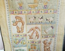 """New listing Baby Quilt Crib Blanket Handmade Pale Yellow/Green/Blue 30""""x48"""" New"""