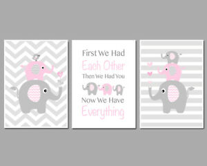 First We Had Each Other Then We Had You / Baby Girl / 3 Wall Art Nursery Prints