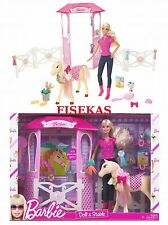Barbie Doll and Stable Playset with Pony Horse Groom & Glam Show 2009 N4892 NEW