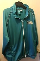 LRG Roots & Equipment Size XXXXL 4X Mens Zippered Track Jacket Masters Turquoise
