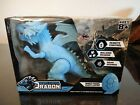 Remote Control Dragon Cool Blue Ages 8+ Walking Roar Sound Wired Fossil Remote