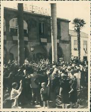 Espagne, La Palma, Santa Cruz, hymne National Espagnol  Vintage print, Photograp