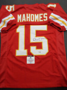 Patrick Mahomes Kansas City Chiefs Autographed Custom Red Football XL Jersey
