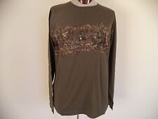 North River. Multi Color. XL. 100% Cotton. Long Sleeve. Animal Print.