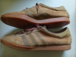 Vintage Deadstock Made in France Men's Adidas Tobacco Suede Fashion Shoes As is
