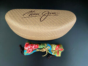 Maui Jim Hard Case Clam shell and Cleaning Cloth Pouch