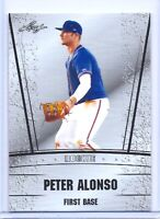 """PETER """"PETE"""" ALONSO 2018 LEAF """"SILVER"""" ROOKIE CARD! 2019 HOME RUN DERBY CHAMPION"""