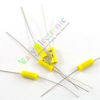 10pcs yellow long leads Axial Polyester Film Capacitors 0.01uF 630V fr tube amps