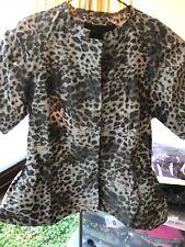 BCBG Maxazria Leopard Animal Print Top  Size Xs RRP $249