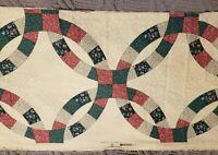 "Vintage Springs Industries Quilt Mock Faux Patchwork Cotton Fabric 18"" x 3¾"" Yds"
