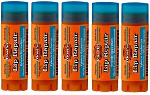5 x O'Keeffe's Lip Repair Stick Lip Balms 4.2g Cooling Relief for Cracked Lips