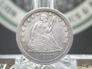 """1858 """"P"""" Seated Liberty Quarter 25c #6  East Coast Coin & Collectables, Inc."""
