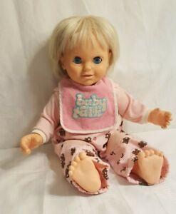 "Baby Talk by Lewis Galoob 18"" vintage 1985 talking doll working"
