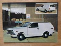 DATSUN SUNNY 120Y VAN orig 1976 UK Mkt Sales Leaflet Brochure - Nissan