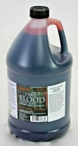 Gallon of Fake Red Liquid Blood Bottle Theatrical Makeup Halloween Prop Decor