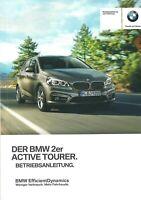 2015 BMW 2ER TOURER F45 BETRIEBSANLEITUNG BORDBUCH BEDIENUNGSANLEITUNG DEUTSCH