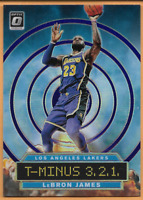 2019-20 Donruss Optic Lebron James #9 T-Minus Prizm refractor Los Angeles Lakers
