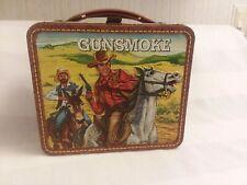 1972 VINTAGE METAL GUNSMOKE TV Western LUNCHBOX  No Thermos