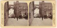 Italia Palermo Rue Animata Cattedrale Foto Manrique Strasburgo Stereo Vintage