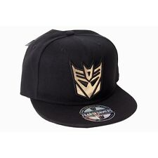 OFFICIAL TRANSFORMERS DECEPTICON S SHINY SYMBOL BLACK SNAPBACK CAP (BRAND  NEW) b04536cedb4e