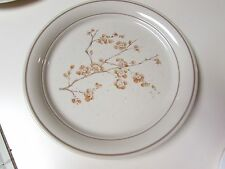"""CORELLE CORNING WARE CHINA BLOSSOM DEEP 10 1/4"""" DINNER PLATE BEIGE BROWN BAND"""