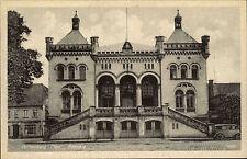 Wittenburg Mecklenburg-Vorpommern ~1940 alte s/w AK Auto parkt vor dem Rathaus