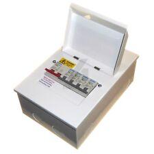 Metal Consumer Unit 100 Amp Isolator 4 Way House Garage Shed - MCB Choice