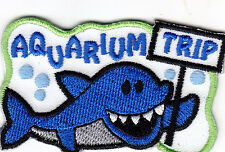 Aquarium Trip Iron On Patch Fish Shark Dolphin Starfish Sea Creatures Turtles