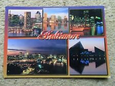 .POSTCARD.MULTIVIEW OF BALTIMORE MARYLAND..POSTED 19.9.2000.55c STAMP